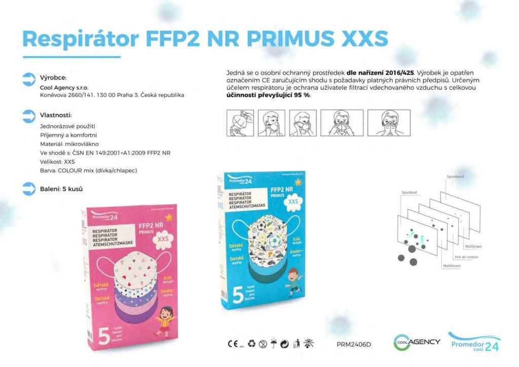 respirátory Primus XXS